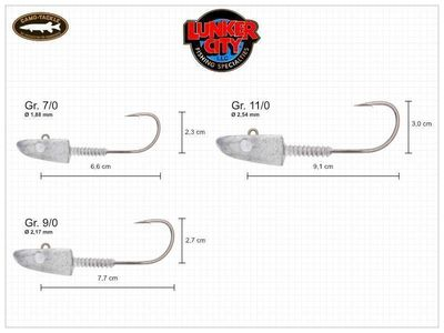 LunkerGrip Slug-Go Head Jig - 0.5 oz / 14g (2 Stk.)