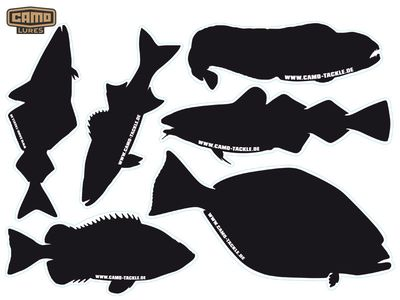 CAMO-Tackle Meeresfisch-Decal - (schwarz/DIN A4)