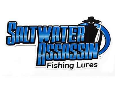 SALTWATER ASSASSIN Decal - (220 x 110 mm)