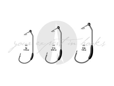 VMC Drop Dead Weighted Hooks - Size 5/0 (3.5g)