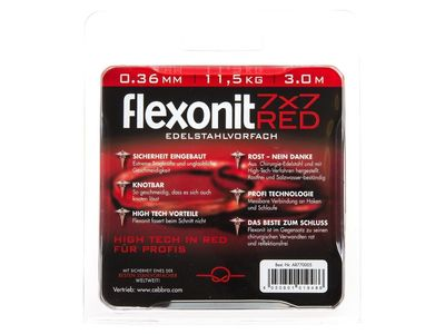 3 m flexonit steel leader 7x7 RED