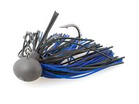 7g Rubber Jig Model II (Version 2) Black / Blue