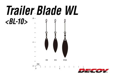 DECOY Trailer Blade Willow Leaf Silver - #3.5