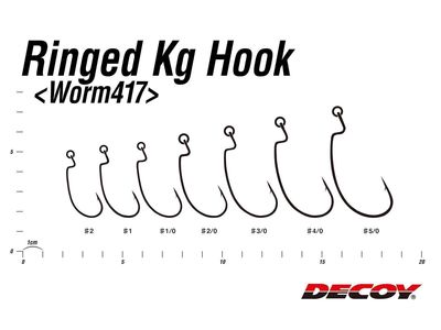 Ringed Kg Offset Hook Worm417