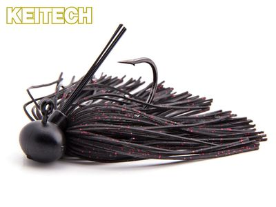 Rubber Jig Model II - Black / Red