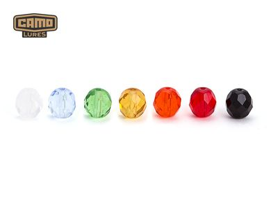 6 mm facetted Glass Beads